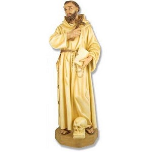 Life Size Saint Francis Statue in Color