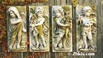 Four Season Cherub Wall Plaques (Set of Four)
