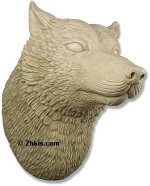 Wolf Head Wall Display