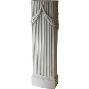 Pillar Pedestal with Drapes