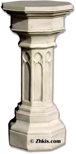 Gothic Window Design Pedestal