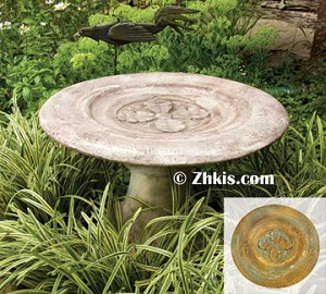 Contemporary Reflecting Birdbath