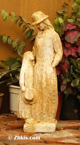 Mother and Daughter Garden Statue