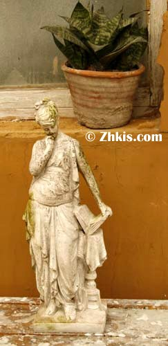 Lady Reading Book Garden Statue