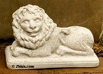 Laying Lion Statue (Left)