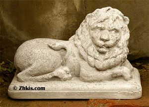 Laying Lion Statue  (Right)