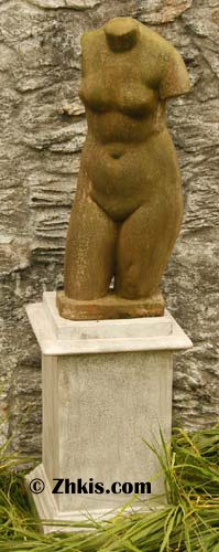 Outdoor Woman's Torso Statue