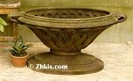 Lattice Style Garden Bowl Large