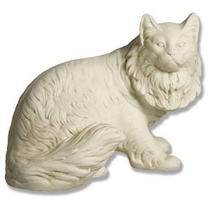 Long Haired House Cat Statue