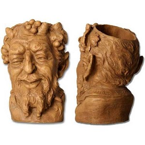 Greek god of Wine Head Planter