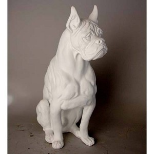 Large Boxer Dog Statue