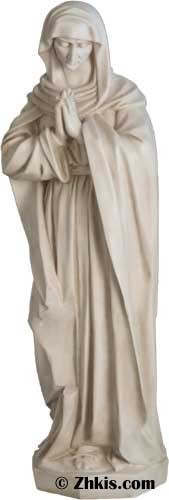 Tall Mary Praying Outdoor Statue