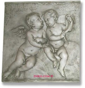 Boy Cherubs Wall Plaque
