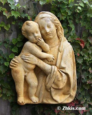 Madonna and Jesus  Wall Plaque