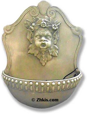 Large Cherub Face Wall Water Fountain
