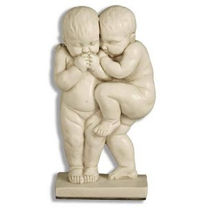 Two Boys Laughing Statue