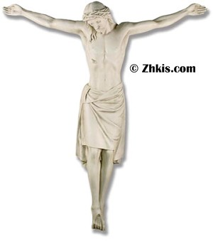 Life Size Christ on Cross Statue