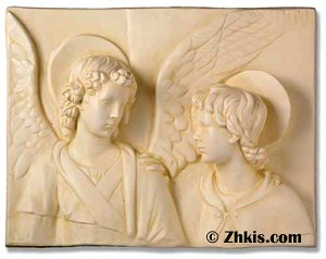 Boy and Angel Wall Plaque