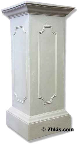 Tall Panel Pedestal with Large Platform