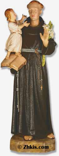 Life Size Saint Anthony Statue