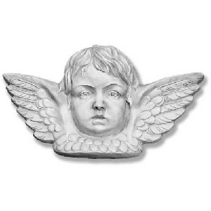 Large Angel Face Wall Plaque