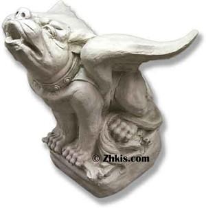 Large Dog Gargoyle Statue