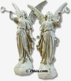 Large Judgment Angels Statue Set