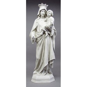 Large Mary with Crown and Child Statue