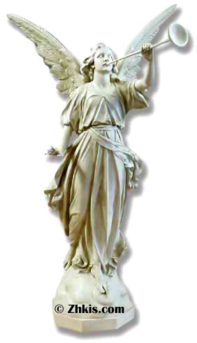 Large Judgment Angel Statue Left
