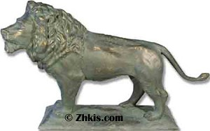 Large Entryway Lion Statue Left