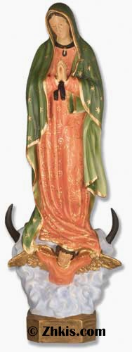 Lady of Guadalupe Statue in Color