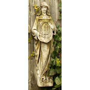 Large Wall Mount Angel With Shield (D)
