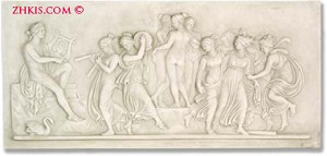 Apollo and Muses Wall Relief