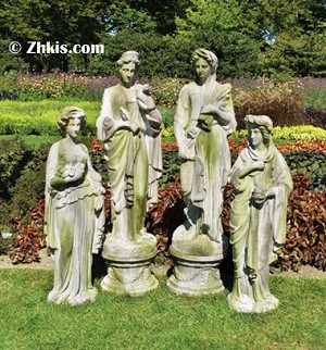 Four Seasons Lady Statue Set