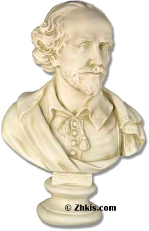Shakespeare The Poet Bust