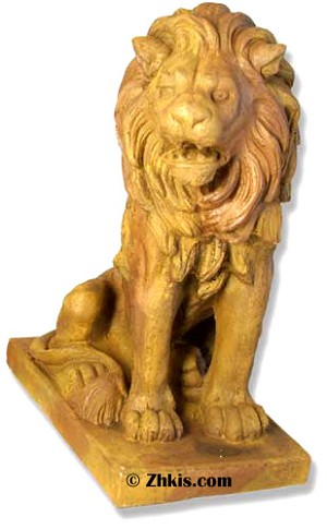 Porch Lion Looking Right Statue
