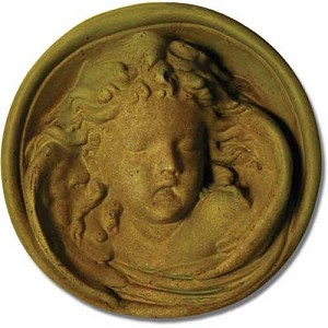 Sleeping Cherub Wall Plaque
