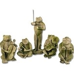 Musical Frog Band Statue Set