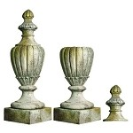 Tall Classical Outdoor Finial With Lid