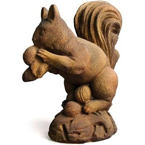 Squirrel Gathering Nuts Statue