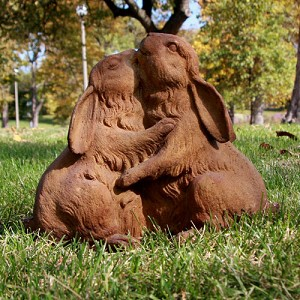 Loving Rabbits Statue