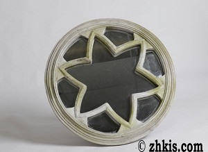 Rose Window Star Wall Mirror