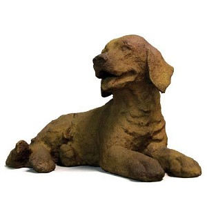 Laying Lab Puppy Statue