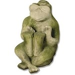 Frog Playing Drums Garden Statue