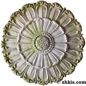 Round Wall Plaque with Floral Leaf Design