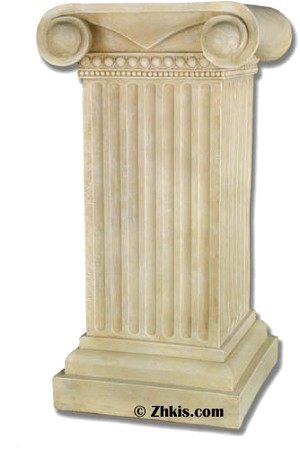 Scroll Top Column Pedestal