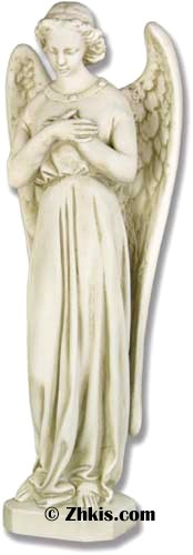 Angel With Hands Crossed Statue Large