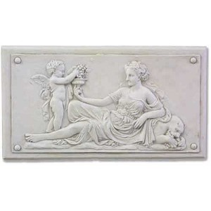 Lady with Cherub Plaque (Left)