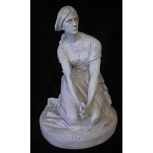Young Woman Praying Statue