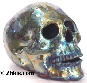 Beautiful Raku Skull